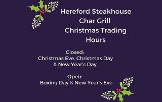 Celebrate at Rest Point Motor Inn and Hereford Steakhouse Char Grill